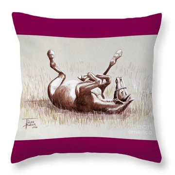 Equine Itch Throw Pillow
