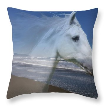 Equine Shores Throw Pillow