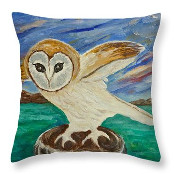 Equinox Owl Throw Pillow