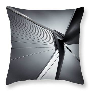 Erasmusbrug Throw Pillow