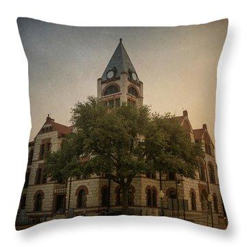 Erath County Courthouse Throw Pillow