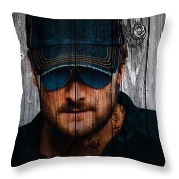 Eric Church Throw Pillow by Dan Sproul