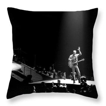 Eric Church In Denver Throw Pillow