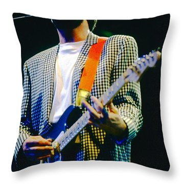 Eric Clapton A1 Throw Pillow by David Plastik