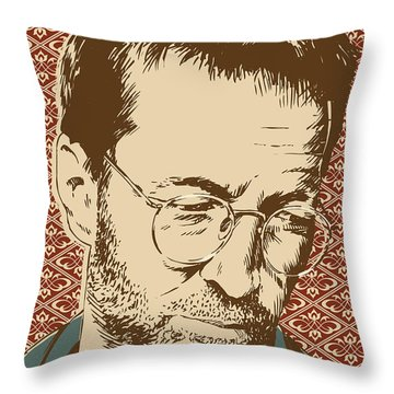 Eric Clapton Throw Pillow by Jim Zahniser
