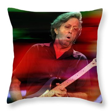 Eric Clapton Throw Pillow by Marvin Blaine