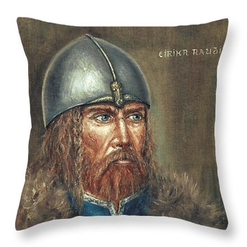 Erick The Red Throw Pillow by Arturas Slapsys