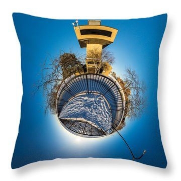 Erie Basin Marina Observation Tower Throw Pillow