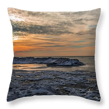 Erie Ice Dunes Throw Pillow