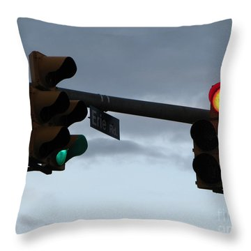 Throw Pillow featuring the photograph Erie Road  by Michael Krek