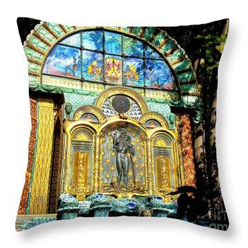 Ernst Fuchs Museum Mural Throw Pillow by Mariola Bitner