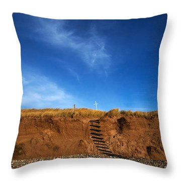 Eroded Low Cliffs, Tramore, County Throw Pillow