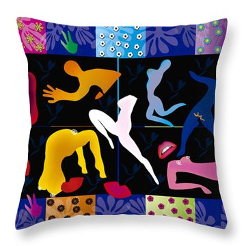Erotic Matisses - Limited Edition 2 Of 8 Throw Pillow