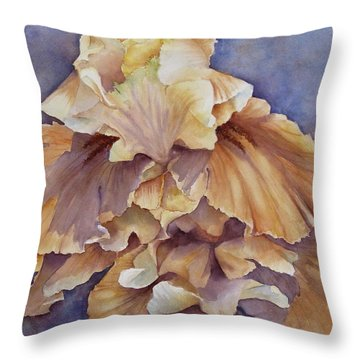 Eruption II--flower Of Rebirth Throw Pillow