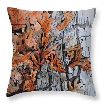 Eruption I Throw Pillow by Rachel Christine Nowicki