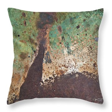 Throw Pillow featuring the photograph Eruption Volcanic Abstract Square by Lee Craig