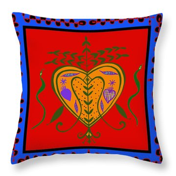 Throw Pillow featuring the digital art Erzulie Freda by Vagabond Folk Art - Virginia Vivier