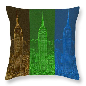 Esb Spectrum Throw Pillow by Meandering Photography