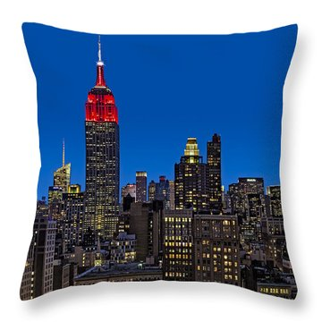 Esb Surrounded By The Flatiron District Throw Pillow by Susan Candelario