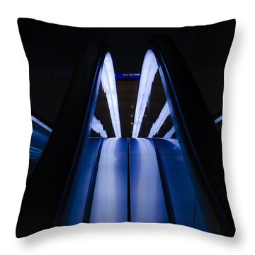 Escalating Lines Throw Pillow