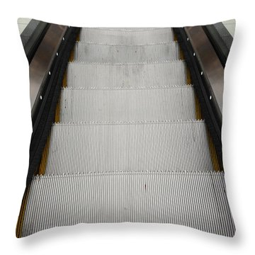 Escalator Throw Pillow by Les Cunliffe