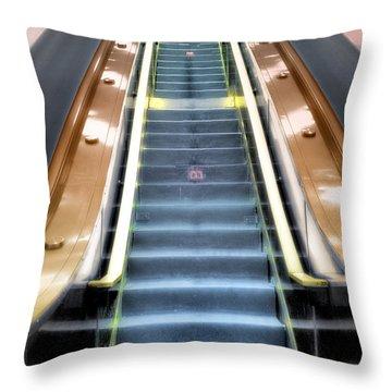 Escalator To Heaven Throw Pillow
