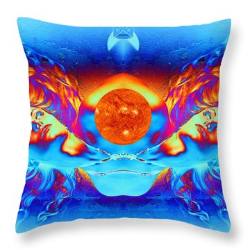 Escape From The Sun Throw Pillow by Matthew Lacey