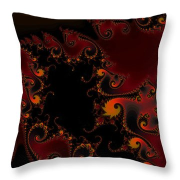Throw Pillow featuring the digital art Escape Hatch by Elizabeth McTaggart