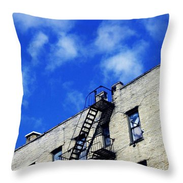 Escape To The Clouds Throw Pillow by Sarah Loft