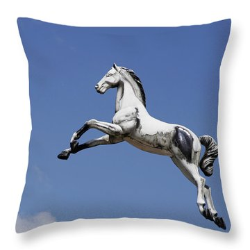 Escaped Carousel Horse Throw Pillow