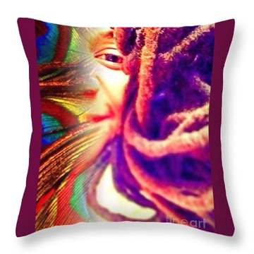 Escaped  Throw Pillow by Fania Simon