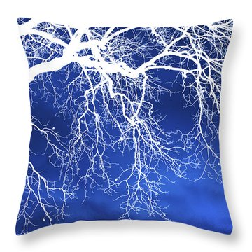 Escaping The Blues Weeping Tree Art Throw Pillow by Christina Rollo
