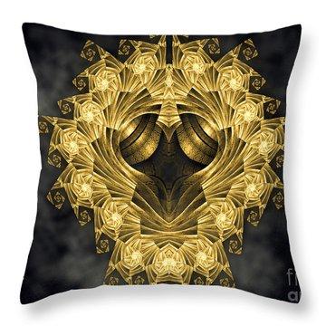 Throw Pillow featuring the digital art Escher Fractal Design by Melissa Messick