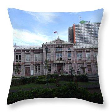 Escuela Cr Throw Pillow