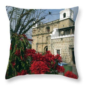 Escuela De Cristo Church Antigua Throw Pillow by Kurt Van Wagner