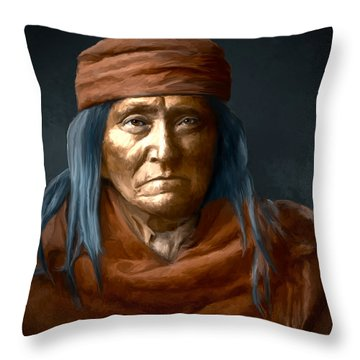 Eskadi - Apache Throw Pillow