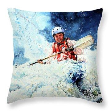 Eskimo Rolls Throw Pillow by Hanne Lore Koehler