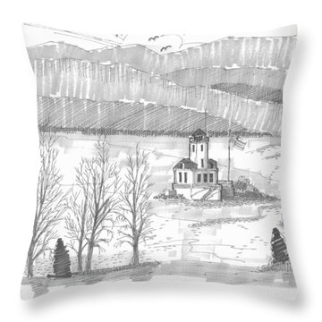 Esopus Lighthouse Throw Pillow