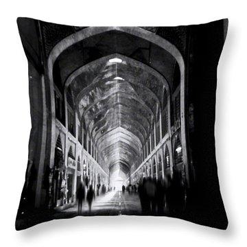 Isfahan Bazar Timewarp By Denise Dube Throw Pillow