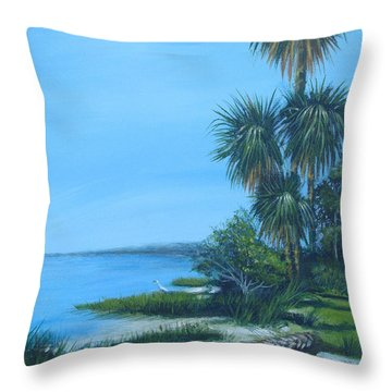 Espiritu Santo Bay Throw Pillow