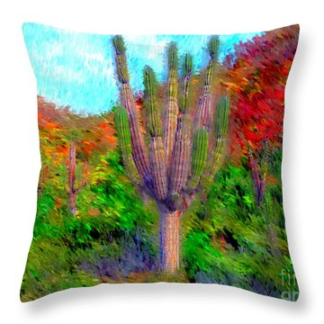 Espiritu Santo Cactus 2 Throw Pillow