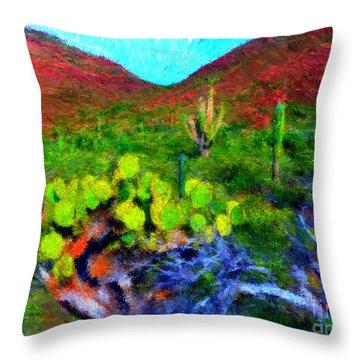Espiritu Santo Cactus 3 Throw Pillow