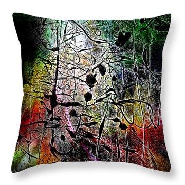Throw Pillow featuring the digital art Espoir by Selke Boris