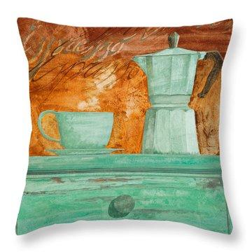Espresso Throw Pillow by Guido Borelli