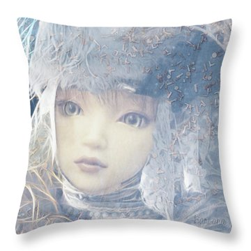 Throw Pillow featuring the digital art Esprilanza Dilla Nocetina by Barbara Orenya