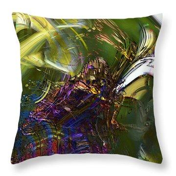 Esprit Du Jardin Throw Pillow by Richard Thomas