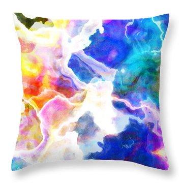Essence - Abstract Art Throw Pillow