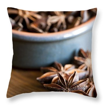 Essence Of Aniseed Throw Pillow by Anne Gilbert