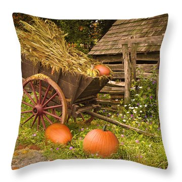 Essence Of Autumn  Throw Pillow