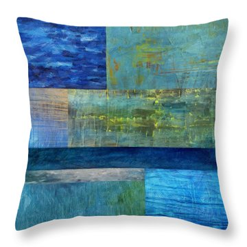 Essence Of Blue 2.0 Throw Pillow by Michelle Calkins